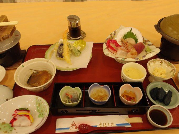 国民宿舎えぼし荘夕食