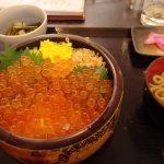 道の駅くじやませ土風館地場食材レストラン山海里鮭といくらの親子丼
