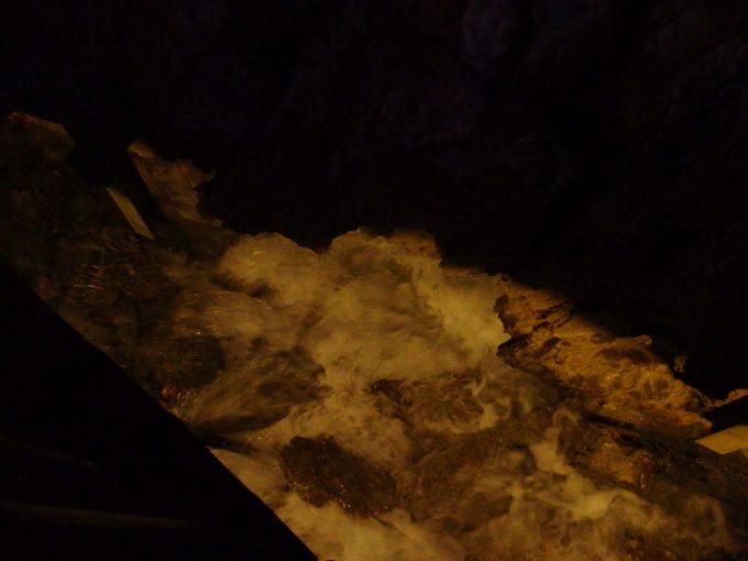 龍泉洞の入口を流れる大量の湧水