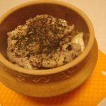 海老芋と鶏せせりの峠アヒージョ・ガリマッシュマカロニサラダ