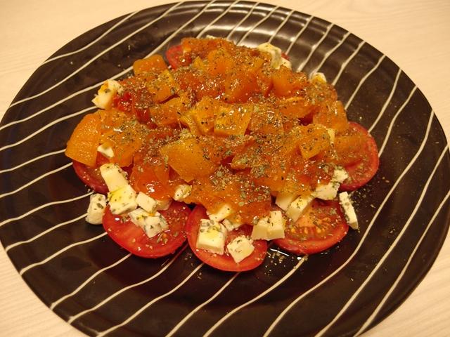 あんぽ柿とゴルゴンゾーラのサラダ
