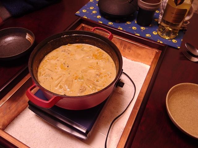 味噌鍋リメイク!鶏団子チーズシチュー