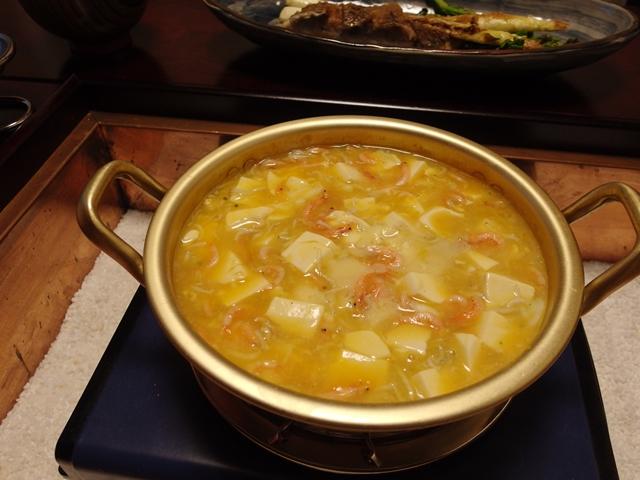 釜揚げ桜えびとしらすの卵とじ豆腐