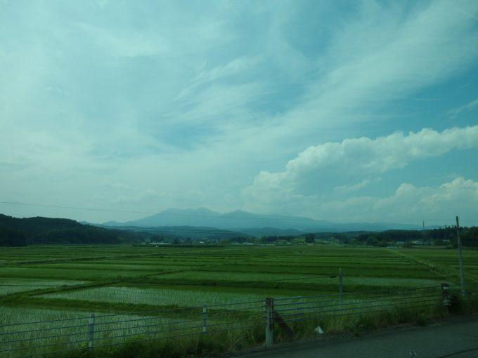 JRバス東北仙台・新宿号車窓の那須連山