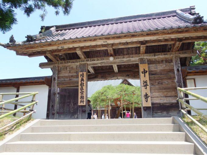 初夏の中尊寺本堂