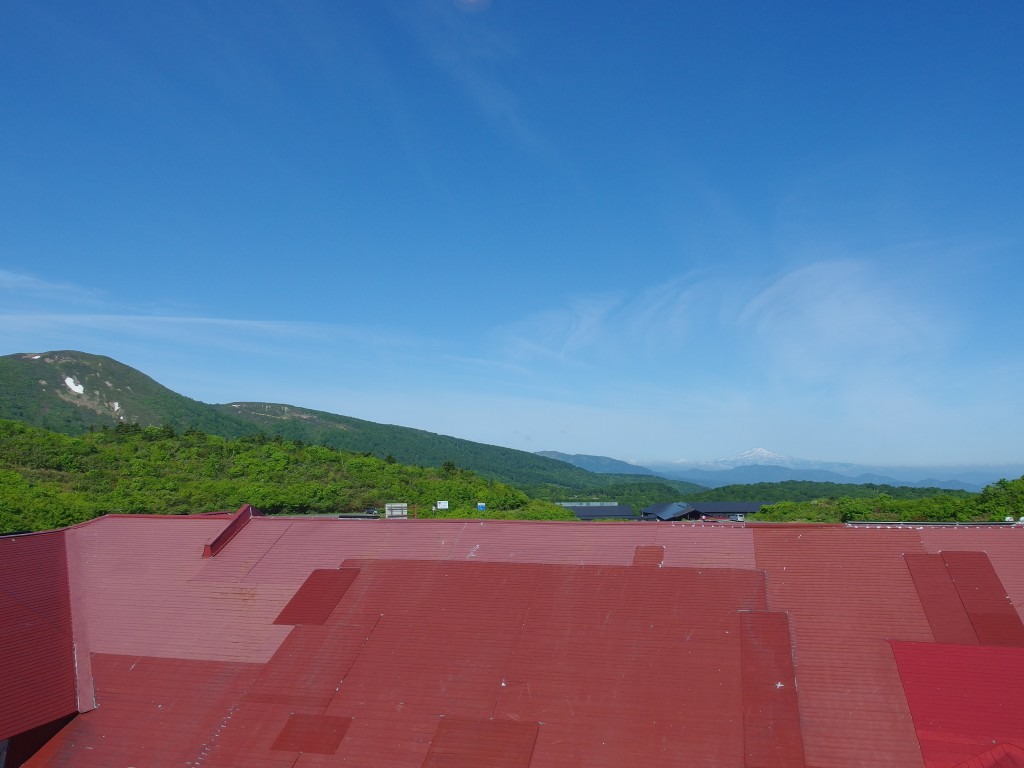 初夏の須川高原温泉で迎える爽やかな朝