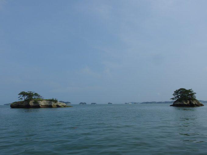 日本三景松島幾多もの奇岩が並ぶ松島湾