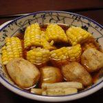 とうきびと新物根菜の揚げ浸し・鯵と新れんこんの実山椒蒲焼き