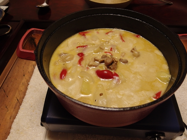 鶏のにんにく花椒クリーム煮