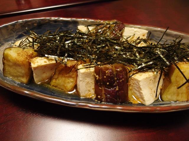 揚げなすと豆腐のごまスコぽんサラダ