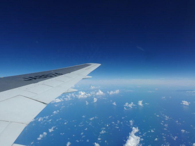 全日空機から見る生まれて初めての東シナ海とフィリピン海