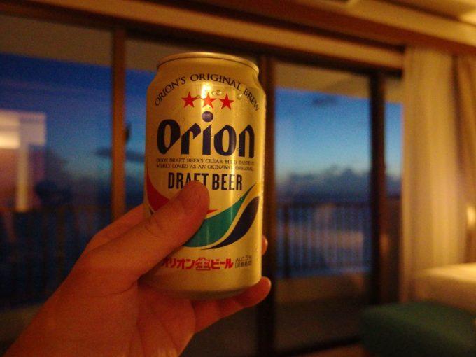 初めての沖縄初めての石垣夜のお供にオリオンビール