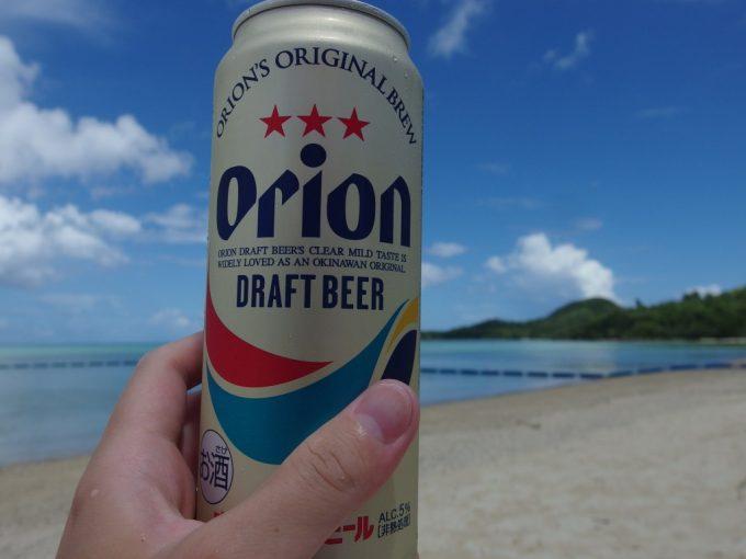 真夏の石垣島沖縄の気候にピッタリのオリオンビール