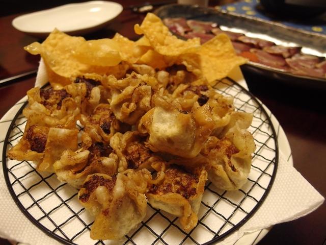 カレー風味の鶏ごぼう揚げ焼売