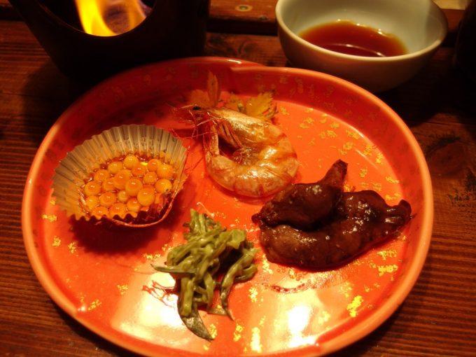 咲花温泉ホテル丸松前菜ととまめ