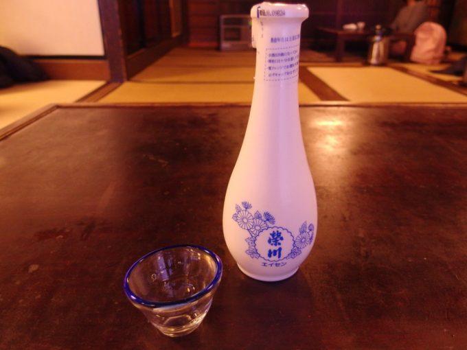 会津若松元祖輪箱飯(わっぱ飯)田季野で榮川冷酒を