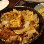 厚揚げと豚トロの生姜焼き・菜の花と大根の味噌卵とじ