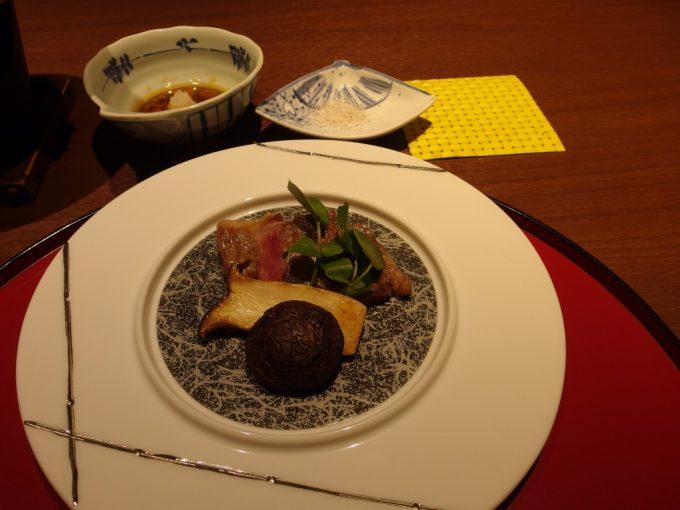 小野川温泉河鹿荘米沢牛ステーキ