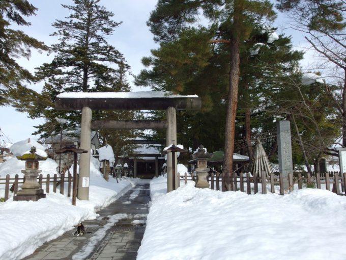冬の米沢松岬神社