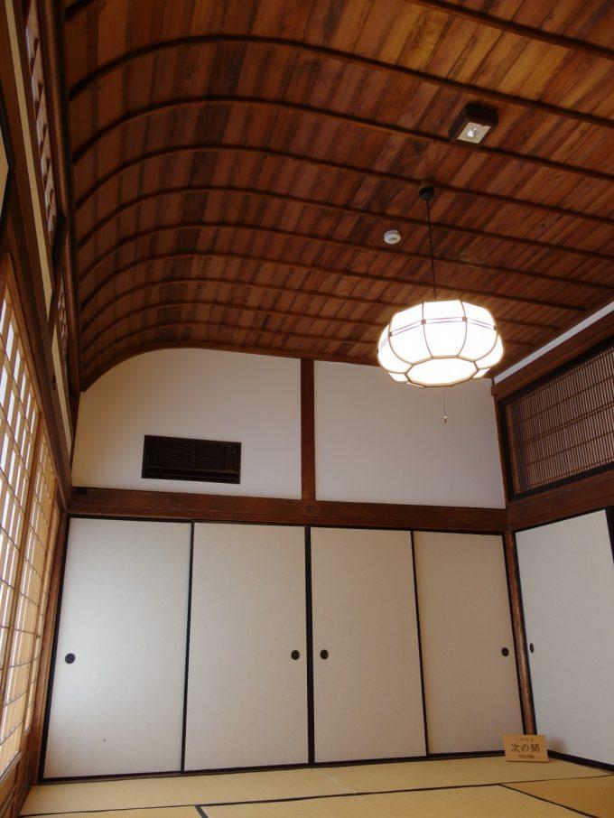 飯坂温泉旧堀切邸美しい曲線を描く見事な天井