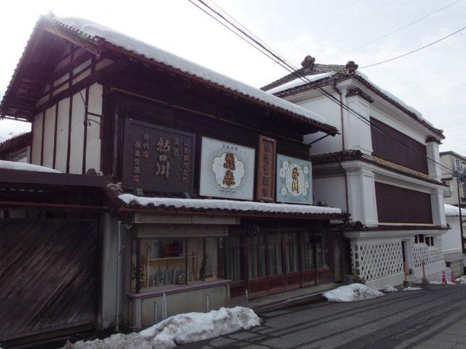 飯坂温泉味わい深い木造の酒屋