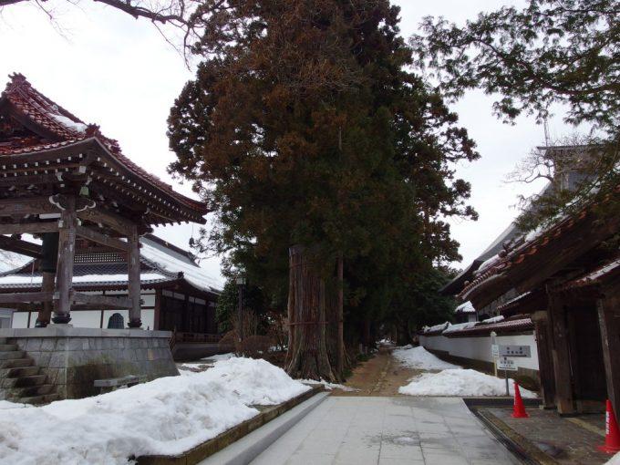 医王寺薬師堂への荘厳な参道