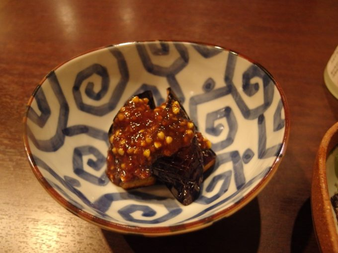 福島駅そば西口喜多屋茄子の蕎麦味噌がけ