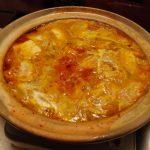 牛すじかき玉キムチ鍋