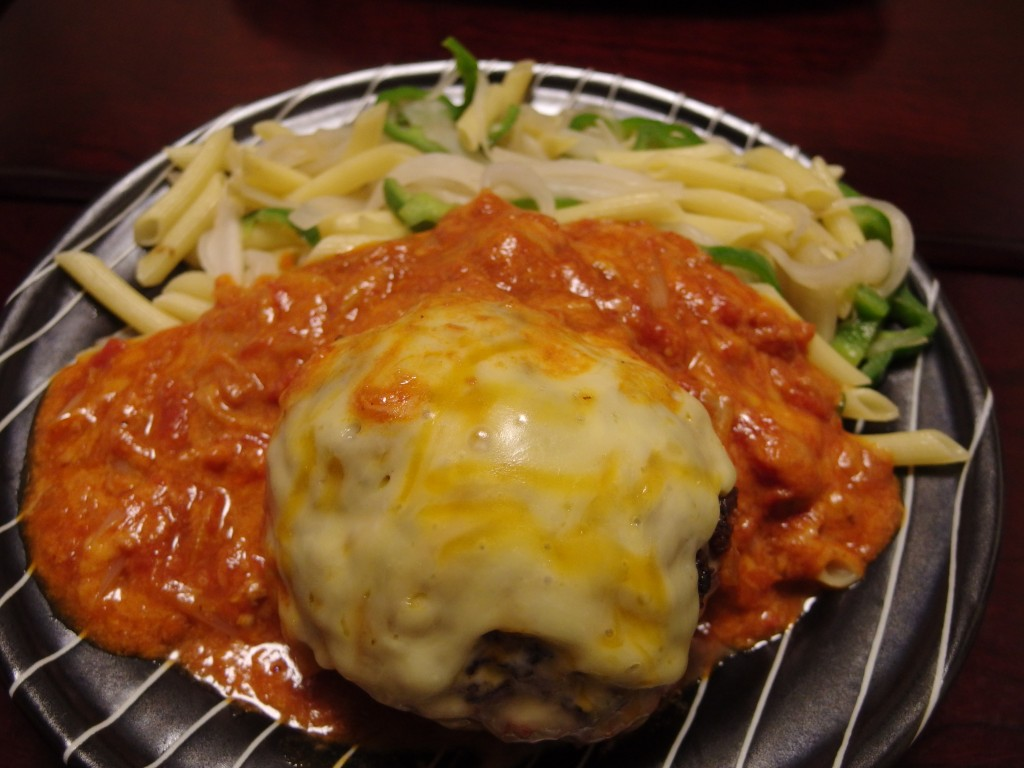 ねぎ味噌トマトハンバーグ