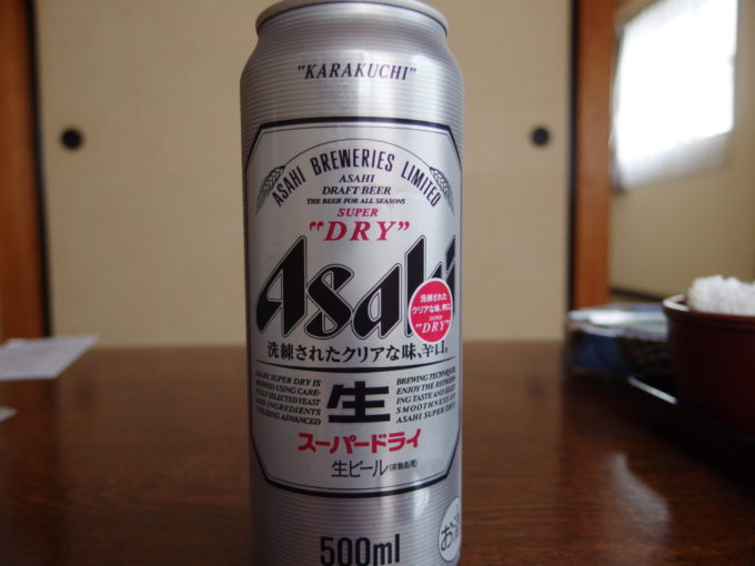 塩原新湯温泉湯荘白樺湯上がりに冷たいビール
