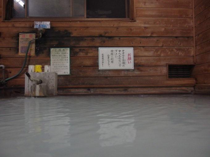 塩原新湯温泉湯荘白樺夜の静けさに包まれた内湯