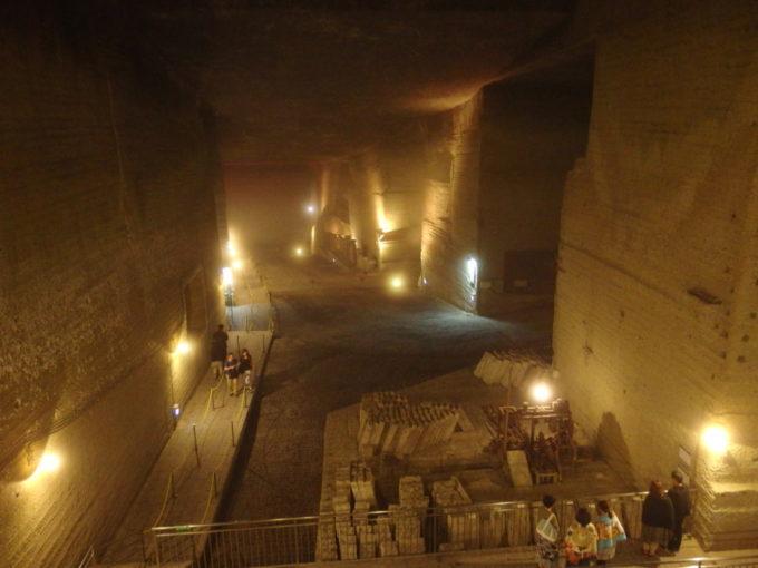 宇都宮大谷資料館石段を下りきると広がる展望