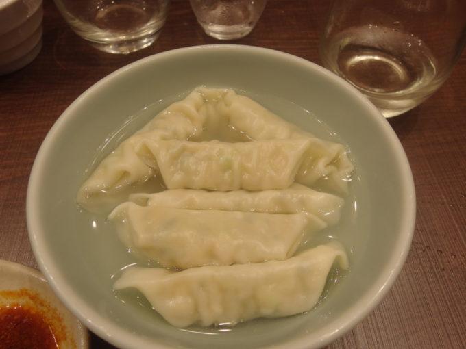 宇都宮みんみんステーションバル〆に水餃子