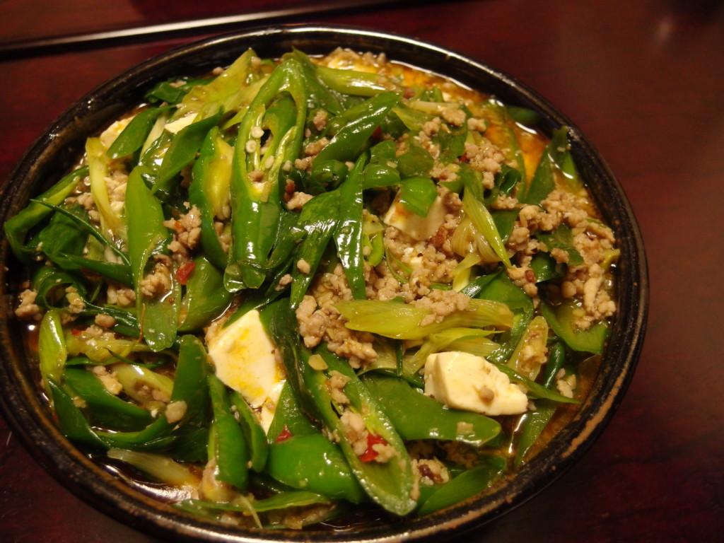 京野菜とちりめん山椒の和風麻婆
