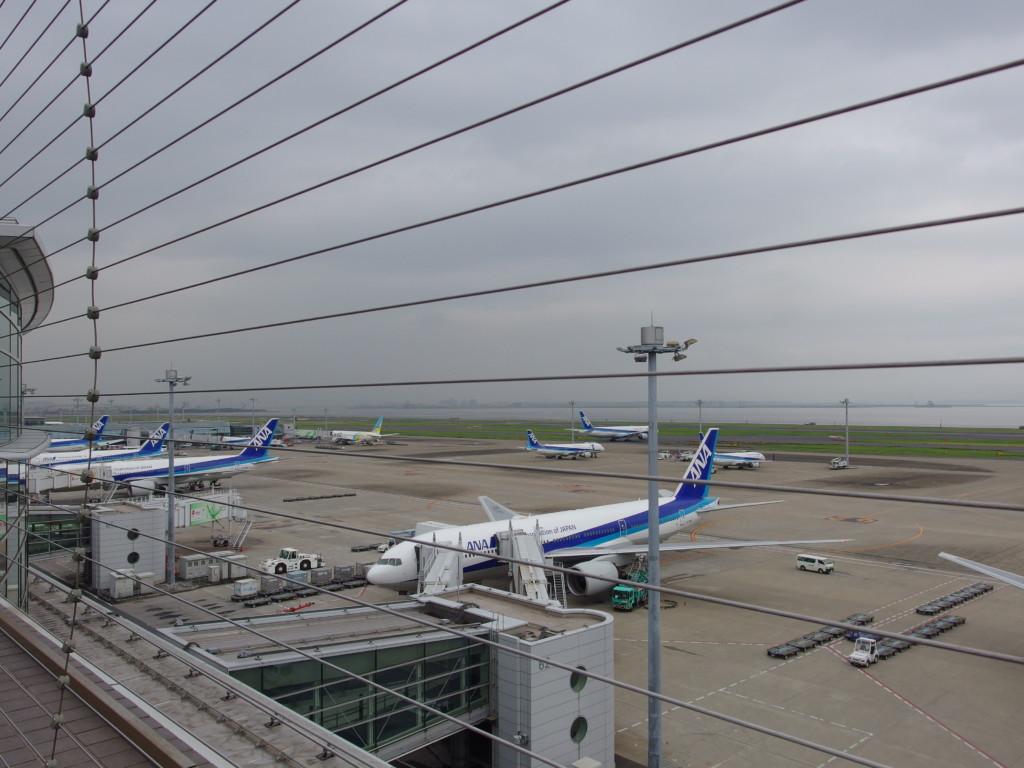 羽田空港第2ターミナルに並ぶたくさんの全日空機