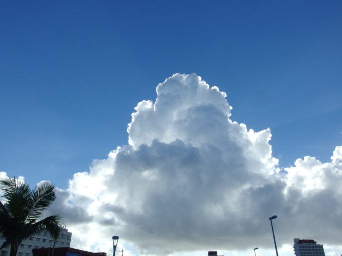 夏の石垣島吸い込まれるような青空と湧きあがる白い雲