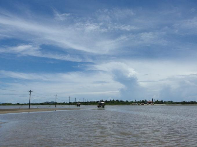 由布島海中の電柱と由布島