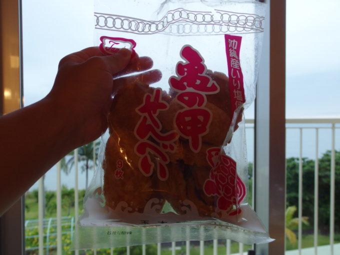 沖縄のお菓子亀の甲せんべい