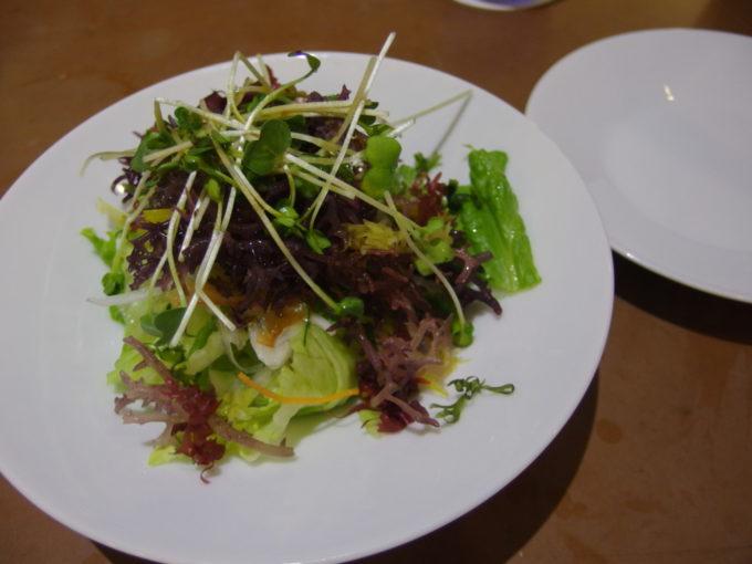 石垣島ビーチホテルサンシャイン赤瓦レストラン波の詩スーナのサラダ