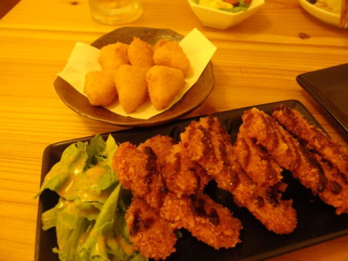 石垣島島人居酒屋8番地ポークフライとカマンベールチーズフライ