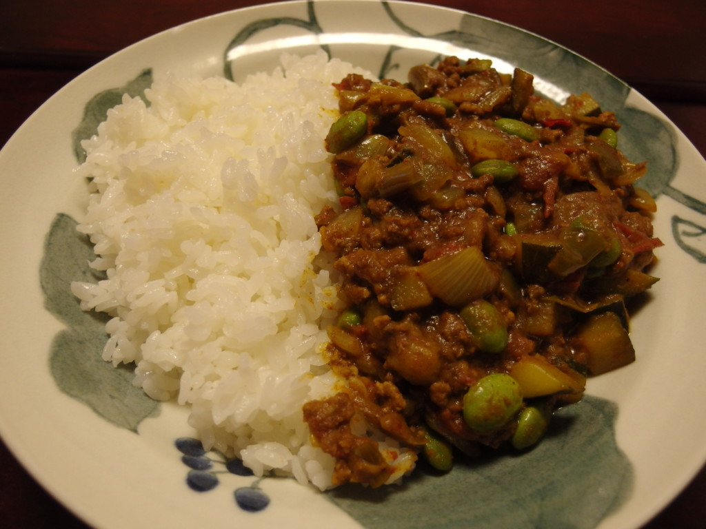 夏野菜のトマキムカレー