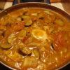 焼き納豆と夏野菜のマルタイキムチ鍋