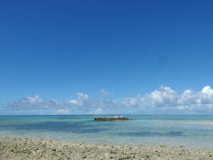 夏真っ盛りの竹富島カイジ浜