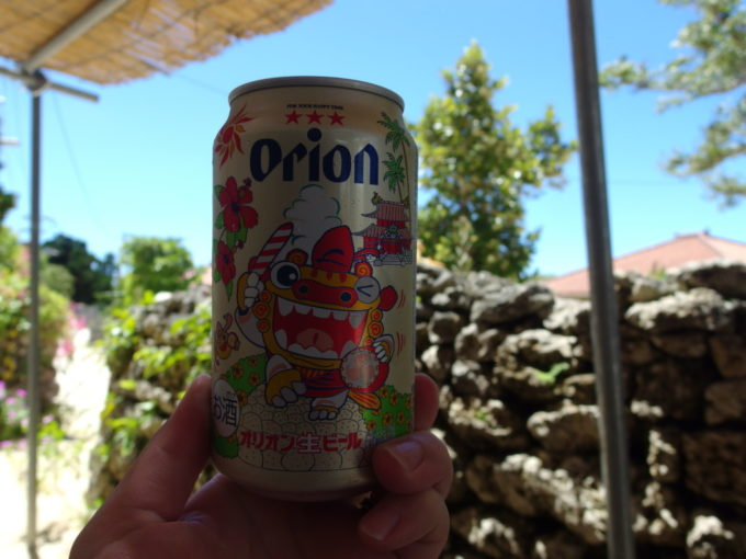 竹富島八重山そば竹乃子オリオン缶ビールをおかわり