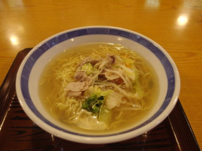 大沢温泉自炊部湯治屋食堂やはぎ野菜ラーメン