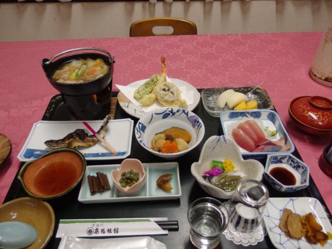 東鳴子温泉郷黒湯高友旅館1日目夕食