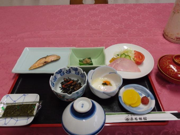 東鳴子温泉郷黒湯高友旅館1日目朝食