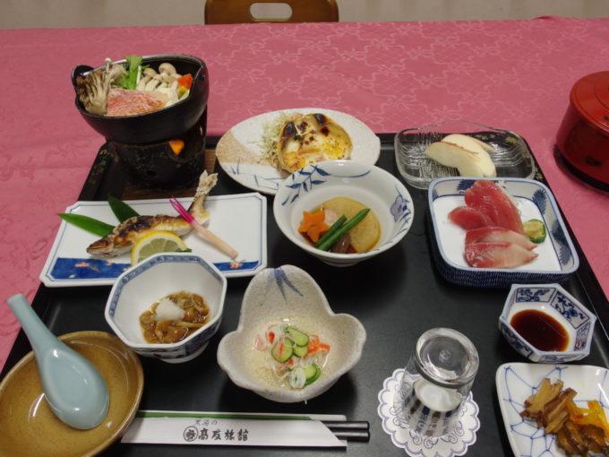 東鳴子温泉郷黒湯高友旅館2日目夕食