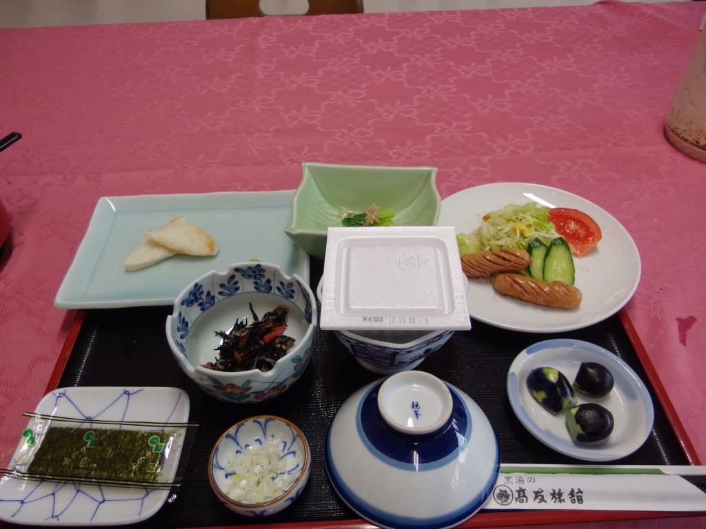 東鳴子温泉郷黒湯高友旅館2日目朝食