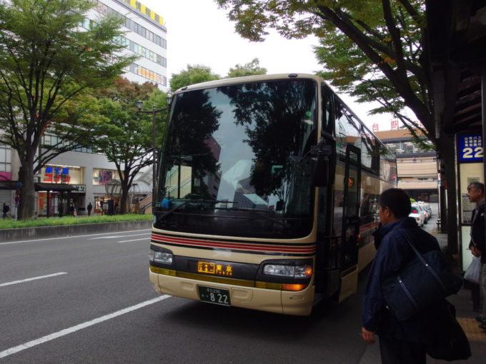 東北急行バスニュースター号東京行き